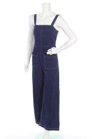 Дамски гащеризон Zara Trafaluc, Размер M, Цвят Син, 99% памук, 1% еластан, Цена 64,97лв.