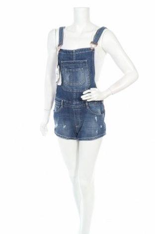Дамски гащеризон Zara Trafaluc, Размер S, Цвят Син, 98% памук, 2% еластан, Цена 41,16лв.