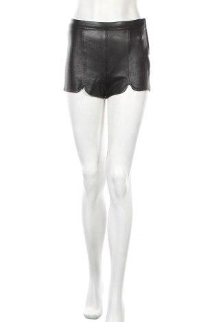 Дамски къс кожен панталон H&M Divided, Размер XS, Цвят Черен, Еко кожа, Цена 24,48лв.