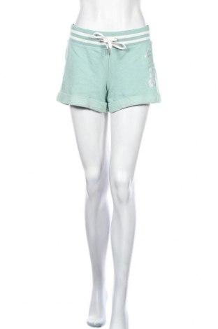 Дамски къс панталон Bench, Размер S, Цвят Зелен, 70% памук, 19% модал, 11% полиестер, Цена 34,50лв.