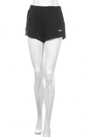 Γυναικείο κοντό παντελόνι Bershka, Μέγεθος M, Χρώμα Μαύρο, 83% βαμβάκι, 17% πολυεστέρας, Τιμή 9,28€