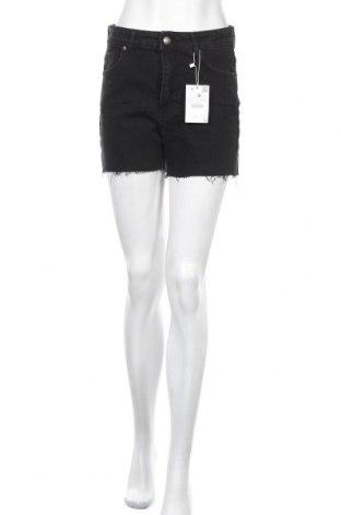 Дамски къс панталон Bershka, Размер M, Цвят Черен, 99% полиуретан, 1% еластан, Цена 29,25лв.