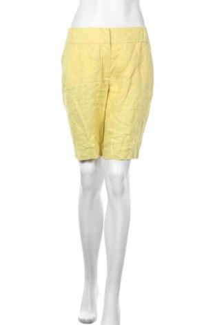 Γυναικείο κοντό παντελόνι Blacky Dress, Μέγεθος S, Χρώμα Κίτρινο, Λινό, Τιμή 8,22€