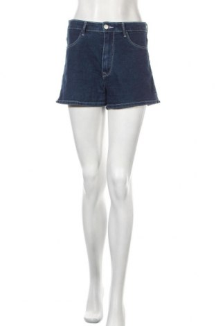 Дамски къс панталон H&M, Размер S, Цвят Син, 80% памук, 19% полиестер, 1% еластан, Цена 18,95лв.