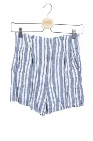 Дамски къс панталон H&M L.O.G.G., Размер XS, Цвят Син, 54% лен, 46% вискоза, Цена 18,75лв.