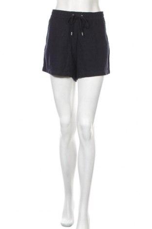 Дамски къс панталон H&M L.O.G.G., Размер L, Цвят Син, 55% лен, 45% вискоза, Цена 17,25лв.