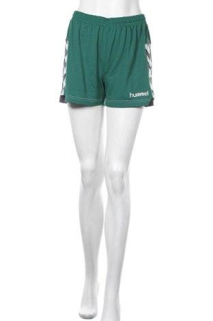 Γυναικείο κοντό παντελόνι Hummel, Μέγεθος M, Χρώμα Πράσινο, Πολυεστέρας, Τιμή 9,35€