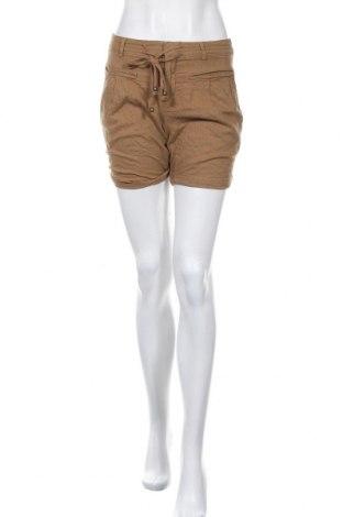 Γυναικείο κοντό παντελόνι Mango, Μέγεθος S, Χρώμα Καφέ, 55% λινό, 45% βισκόζη, Τιμή 12,02€