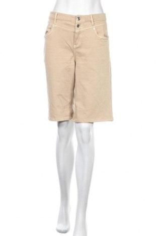 Дамски къс панталон S.Oliver, Размер M, Цвят Бежов, 50% памук, 40% вискоза, 8% полиестер, 2% еластан, Цена 17,36лв.