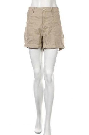 Γυναικείο κοντό παντελόνι Time and tru, Μέγεθος XL, Χρώμα  Μπέζ, 64% βαμβάκι, 34% πολυεστέρας, 2% ελαστάνη, Τιμή 6,14€