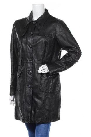 Дамски кожен шлифер Biaggini, Размер XL, Цвят Черен, Еко кожа, Цена 41,58лв.