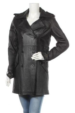 Дамски кожен шлифер Lee Cooper, Размер M, Цвят Черен, Естествена кожа, Цена 61,74лв.