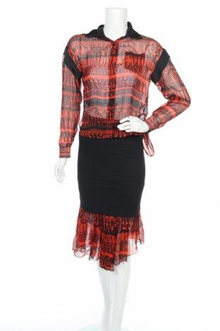 Дамски комплект Dolce & Gabbana, Размер S, Цвят Червен, 74% коприна, 24% памук, 2% еластан, Цена 312,17лв.