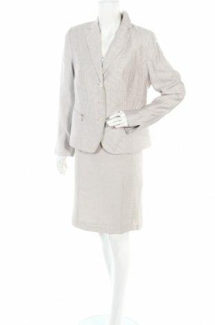 Γυναικείο κοστούμι Gelco, Μέγεθος L, Χρώμα Γκρί, 50% λινό, 38% βισκόζη, 12% πολυαμίδη, Τιμή 15,20€