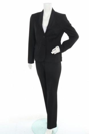 Дамски костюм Hallhuber, Размер L, Цвят Черен, 55% полиестер, 35% вискоза, 7% еластан, Цена 87,47лв.