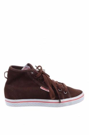 Дамски обувки Adidas Originals, Размер 36, Цвят Кафяв, Естествен велур, Цена 74,82лв.