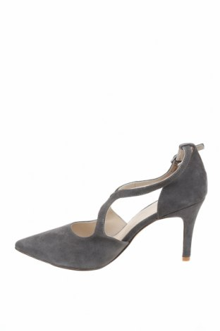 Дамски обувки Anna Field, Размер 42, Цвят Сив, Естествен велур, Цена 32,70лв.