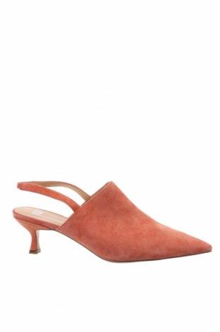 Дамски обувки Anny Nord, Размер 39, Цвят Оранжев, Естествен велур, Цена 239,25лв.