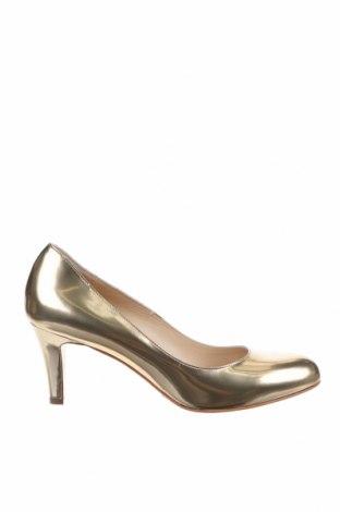 Дамски обувки Evita, Размер 38, Цвят Златист, Естествена кожа, Цена 201,75лв.