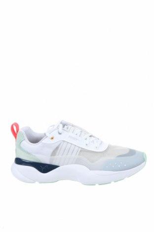 Дамски обувки PUMA, Размер 39, Цвят Бял, Естествен велур, текстил, еко кожа, Цена 126,75лв.
