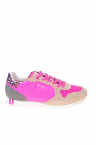 Дамски обувки Pepe Jeans, Размер 37, Цвят Розов, Текстил, естествен велур, Цена 108,12лв.