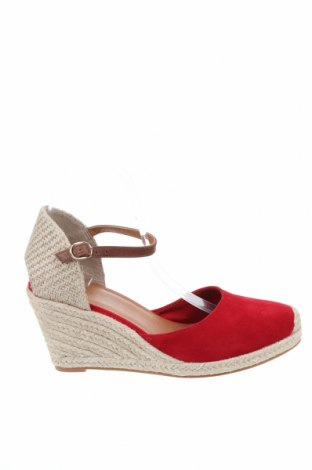 Дамски обувки Pier One, Размер 40, Цвят Червен, Естествен велур, Цена 81,75лв.