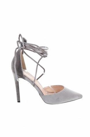Γυναικεία παπούτσια Public Desire, Μέγεθος 41, Χρώμα Γκρί, Κλωστοϋφαντουργικά προϊόντα, Τιμή 13,46€