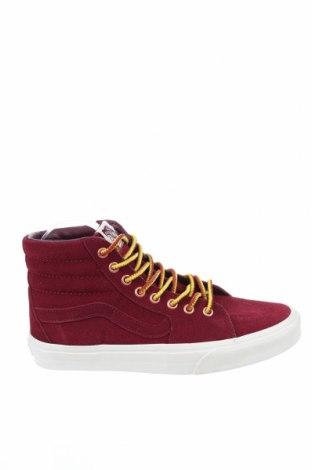 Дамски обувки Vans, Размер 39, Цвят Червен, Естествен велур, Цена 77,40лв.