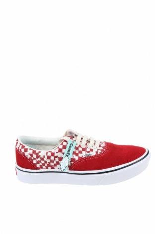 Дамски обувки Vans, Размер 38, Цвят Червен, Естествен велур, текстил, Цена 87,72лв.