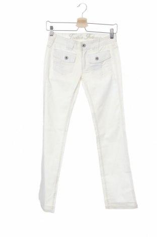 Дамски панталон Trailer, Размер XS, Цвят Бял, 96% памук, 4% еластан, Цена 7,10лв.