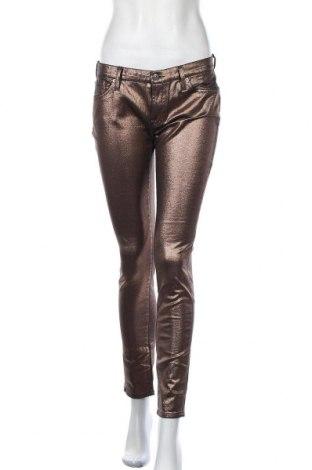 Γυναικείο παντελόνι 7 For All Mankind, Μέγεθος M, Χρώμα Χρυσαφί, 97% βαμβάκι, 3% ελαστάνη, Τιμή 15,72€