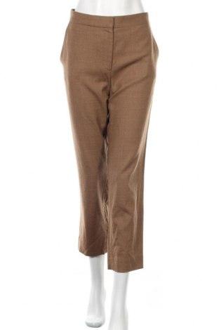 Дамски панталон COS, Размер L, Цвят Кафяв, 98% вълна, 2% еластан, Цена 34,50лв.