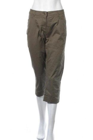 Дамски панталон Cheer, Размер L, Цвят Зелен, 98% памук, 2% еластан, Цена 24,96лв.
