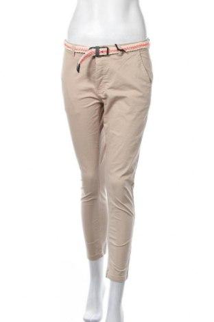 Дамски панталон Chiemsee, Размер S, Цвят Бежов, 98% памук, 2% еластан, Цена 37,92лв.