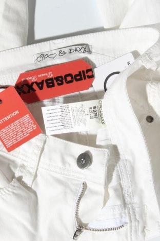 Дамски панталон Cipo & Baxx, Размер M, Цвят Бял, 87% памук, 10% полиестер, 3% еластан, Цена 59,25лв.