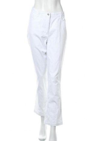 Γυναικείο παντελόνι Collection L, Μέγεθος L, Χρώμα Λευκό, 96% βαμβάκι, 4% ελαστάνη, Τιμή 8,57€