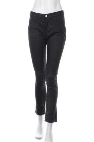 Дамски панталон Crazy World, Размер L, Цвят Черен, 59% памук, 38% полиестер, 3% еластан, Цена 17,33лв.