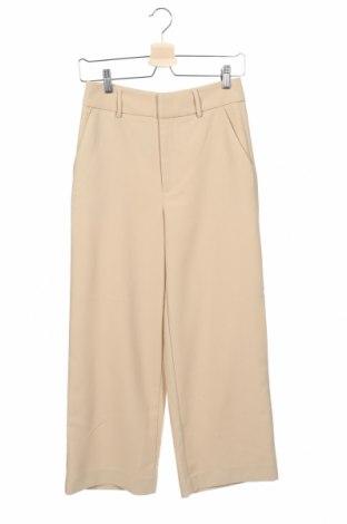 Дамски панталон Gestuz, Размер XS, Цвят Бежов, 97% полиестер, 3% еластан, Цена 76,45лв.