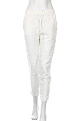 Дамски панталон H&M L.O.G.G., Размер S, Цвят Бял, Лен, Цена 44,25лв.