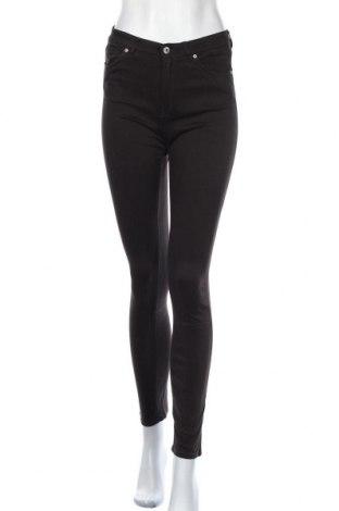 Дамски панталон H&M L.O.G.G., Размер S, Цвят Черен, 53% памук, 44% вискоза, 3% еластан, Цена 27,30лв.