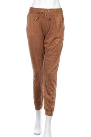 Дамски панталон Janina, Размер S, Цвят Кафяв, 90% полиестер, 10% еластан, Цена 20,95лв.