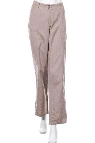 Γυναικείο παντελόνι Michele Boyard, Μέγεθος XL, Χρώμα  Μπέζ, 53% λινό, 47% βαμβάκι, Τιμή 12,25€