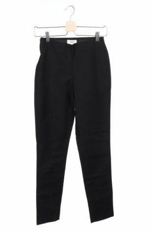 Дамски панталон Object, Размер XS, Цвят Черен, 50% памук, 47% полиамид, 3% еластан, Цена 34,00лв.