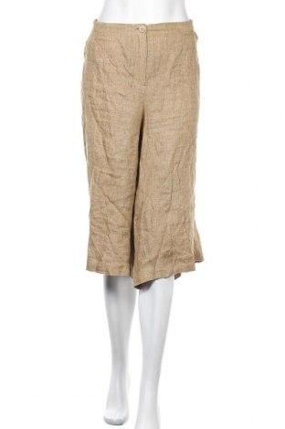 Дамски панталон Peter Hahn, Размер 3XL, Цвят Зелен, Лен, Цена 26,46лв.