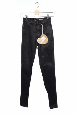 Дамски панталон Please, Размер XXS, Цвят Черен, 98% памук, 2% еластан, Цена 18,06лв.