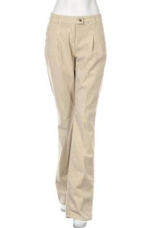 Дамски панталон TWINSET, Размер L, Цвят Бежов, 98% памук, 2% еластан, Цена 104,30лв.