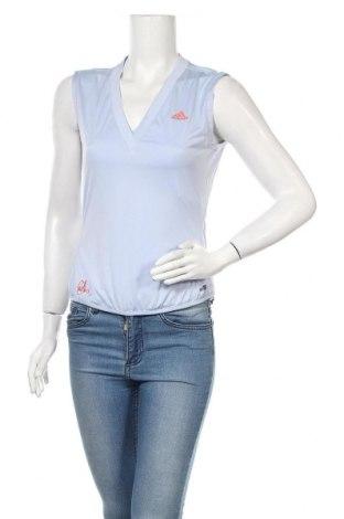 Γυναικείο αμάνικο μπλουζάκι Adidas, Μέγεθος M, Χρώμα Μπλέ, Πολυεστέρας, Τιμή 10,39€