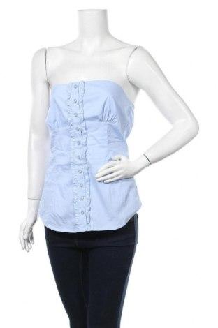 Γυναικείο αμάνικο μπλουζάκι Calliope, Μέγεθος M, Χρώμα Μπλέ, 72% βαμβάκι, 25% πολυαμίδη, 3% ελαστάνη, Τιμή 8,18€