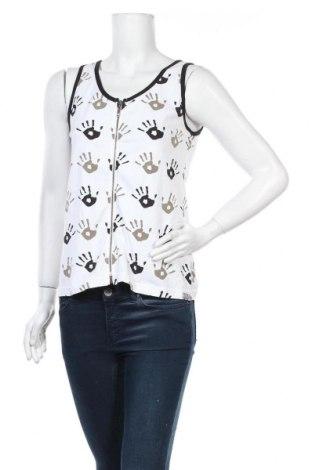 Дамски потник Carla Du Nord, Размер M, Цвят Бял, 95% памук, 5% еластан, Цена 10,08лв.