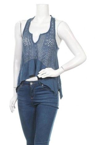 Γυναικείο αμάνικο μπλουζάκι Hollister, Μέγεθος XS, Χρώμα Μπλέ, 53% βαμβάκι, 47% μοντάλ, Τιμή 9,71€